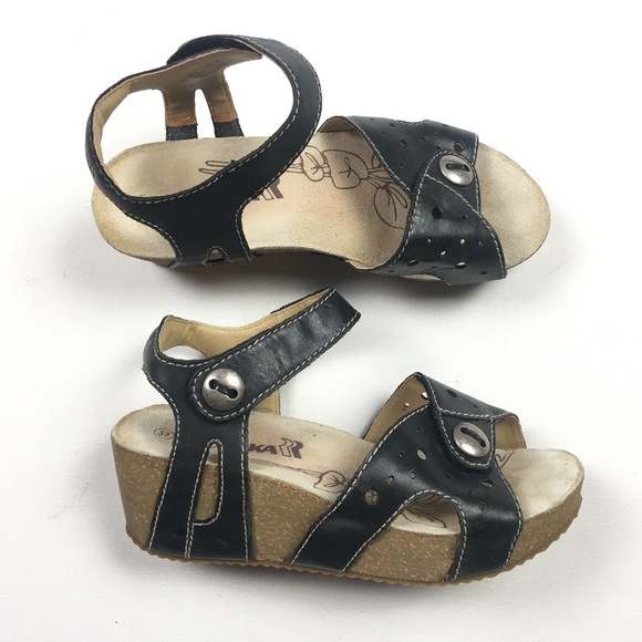 9d9c340a71e1 Romika Florida Black Wedge Womens Sandal 37